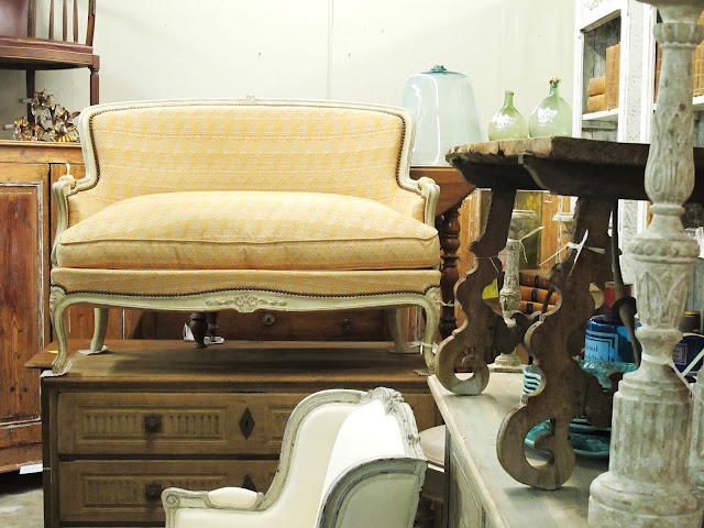 French Settee, Oak Commode, & More!