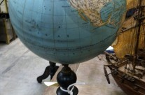 19th Century Globe on Ebonized Stand