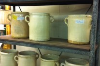 Antique French Cremeware Jars