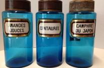 Large Aqua-Marine Apothecary Jars, France