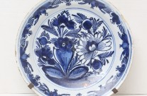 18th-Century Delft Plate