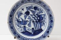 18th-Century Delft Platter