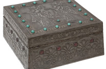 Jeweled Repousse Box, Alfred Daguet, Attri.