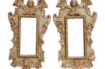 Italian Putti Mirrors, Pair