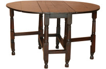 18th-C Oak Drop Leaf Table