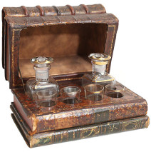 French Liquor Tantalus Set