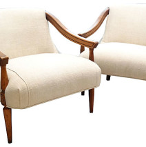 Mid Century Lounge Chairs, Pair