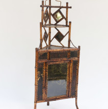 Scorched Bamboo Corner Cabinet