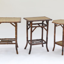French Tortoise Bamboo Table