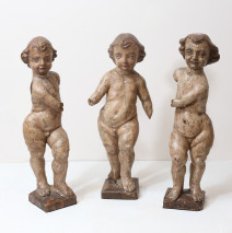 Antique Italian Carved Angels