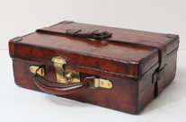 19th-C Leather Cartridge Case