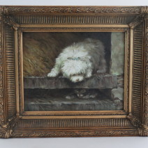 Dog & Cat Oil Painting
