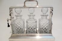 Art Deco Silver Liquor Tantalus