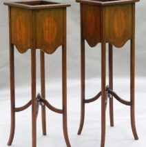 Antique French Plant Stands Jardinieres, Pair