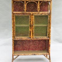 French Tortoise Bamboo Cabinet