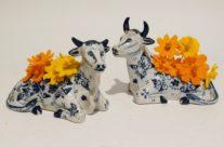19th-C Delft Cows