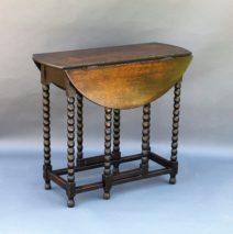 Oak Twist Drop-Leaf Table