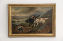 Sporting Dogs I Oil Painting Charles Dudley