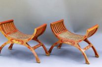 French Chinoiserie Benches, Pair