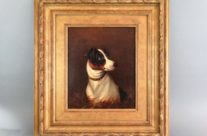 Terrier Dog Oil Painting