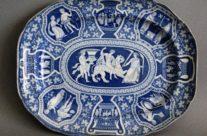 Antique Spode Platter Greek Pattern