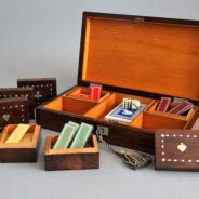 Antique French Rosewood Games Box