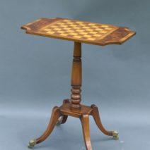 Antique Games Table with Inlay