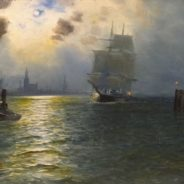 19th-Century Oil Painting, Thames