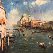 Italian Impressionist Oil Painting Venice