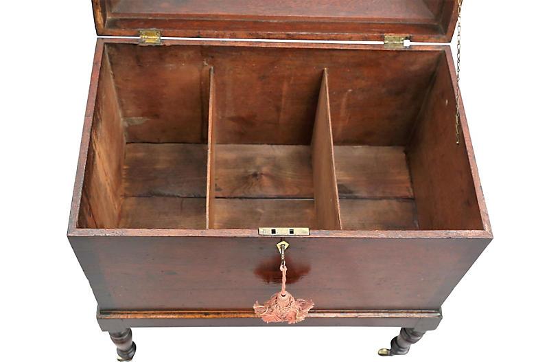 Flip Top Rolling Bar Cabinet