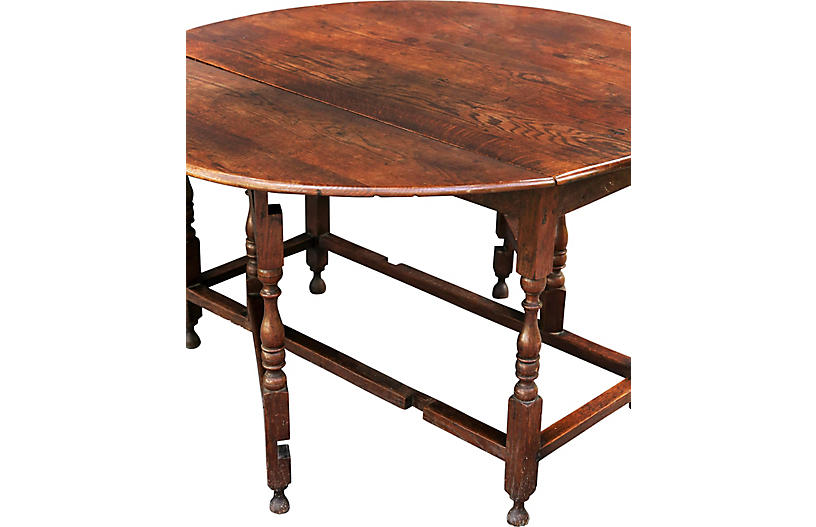 Antique english oak gate leg table faded rose antiques llc for Gatehouse furniture