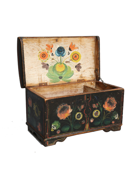 Antique Norwegian Rosemaling Box | Faded Rose Antiques, LLC.