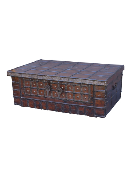Large British Colonial Chest Coffee Table